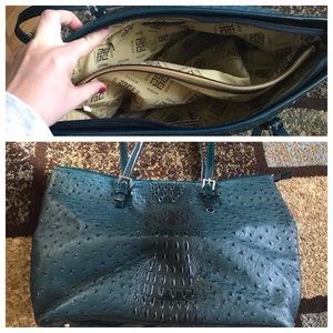 Large blue and black purse